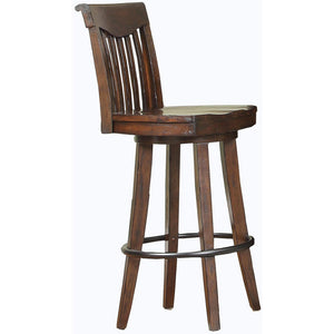 "ECI - Set of Two Gettysburg 30"" Swivel Oak Finish Wooden Bar Stools Bar Stool ECI - Express Home Bars"