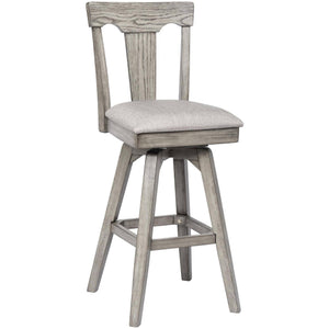 "ECI - Set of 2 Graystone 30"" Burnished Gray Upholstered Wooden Bar Stools Bar Stool ECI - Express Home Bars"