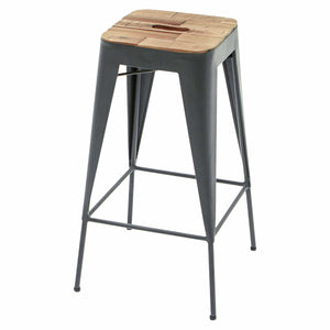 "Yosemite Acacia Wood and Metal Stackable 30"" Bar Stool Bar Stool Yosemite Home Decor - Express Home Bars"