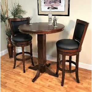 Distressed Walnut Adjustable Pub Table - Bar Table by ECI Bar Table ECI - Express Home Bars