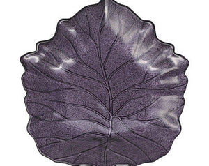 Purple Leaf Vietri Glass Platter - Brovelli Oils, Vinegars & Gifts