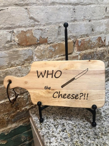Who Cut The Cheese -Cheeseboard - Brovelli Oils, Vinegars & Gifts