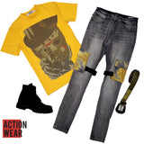 D N A Jason T-Shirt - Yellow