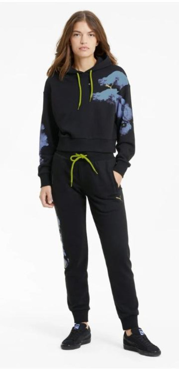 Puma Sweat Suit For Women -  Black / Purple - Action Wear