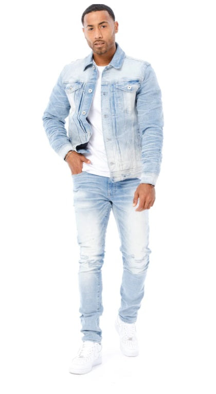 Jordan Craig Denim Jacket For Men  - Light Blue JC91512 - Action Wear