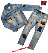 Men Kloud 9 Jeans -  P20744 Ice Blue - Action Wear