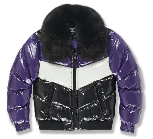 LENOX NYLON PUFFER JACKET 2.0  JC91505 Purple - Action Wear