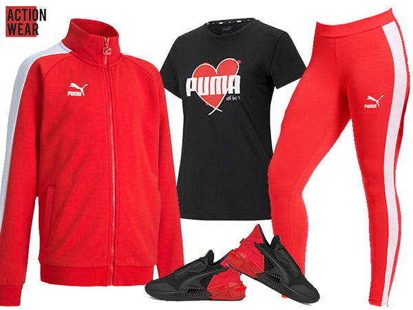 Puma Sweat Suit For Women -  Red - Action Wear