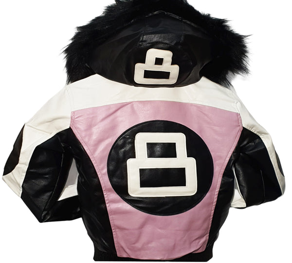 Men 8 Ball Leather Jacket - MPU8BH Blush Pink - Action Wear