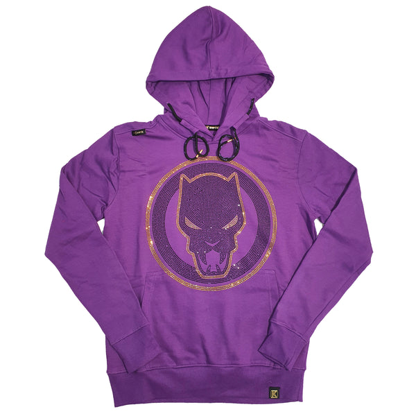 Men Pullover Hoodies - HDM033CMVL Purple - Action Wear