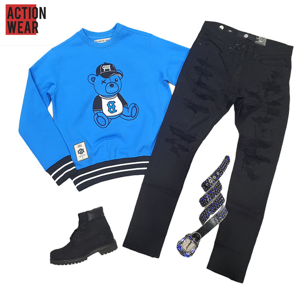 Royal Blue Crewneck For Men - SM2110 - Action Wear