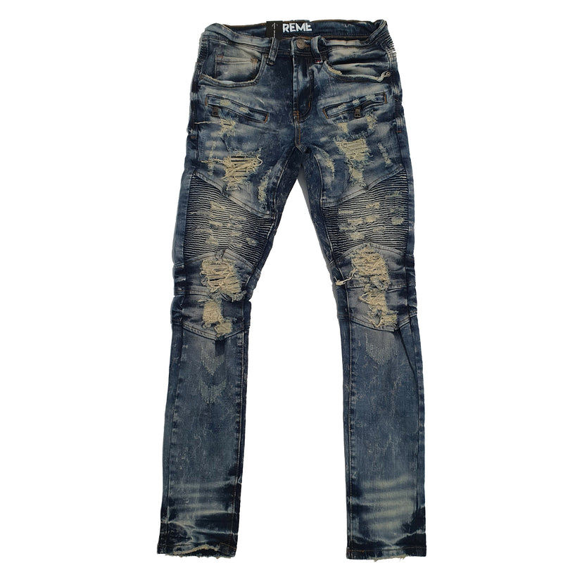 Preme Men Jeans Cream and Light Wash PR-WB-487