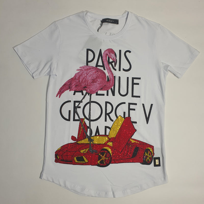 George Paris Ferrari Stones T-Shirt - White - GV2059 - Action Wear