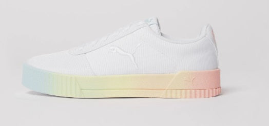 Puma W Carina Summer Cat Fade - White 381329-01 - Action Wear