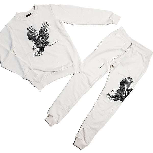 Women Eagle Sweat Suit - WMN SET White - Action Wear
