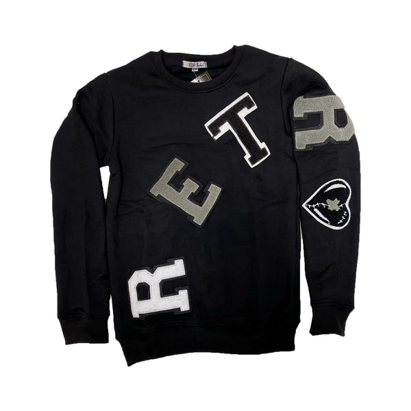 Retro Label ANTHRACITE  Crew Neck - 5'S RETRO - Action Wear
