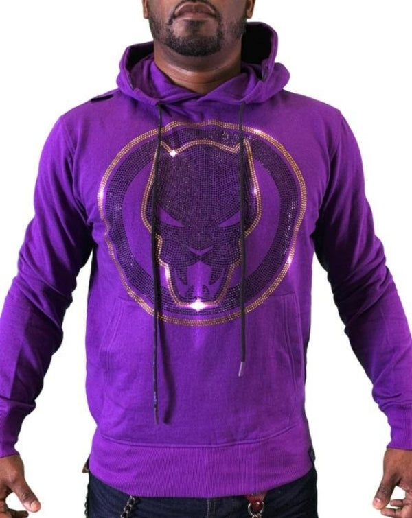 Men Pullover Hoodies - HDM033CMVL Purple