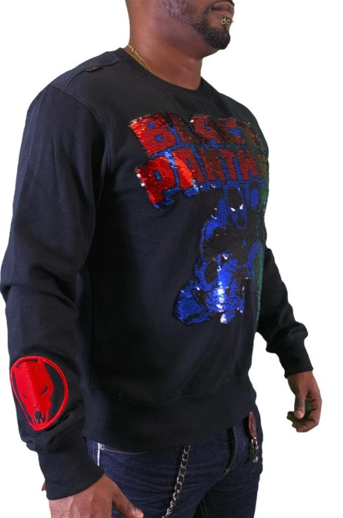 Men Kryptic Crewneck- LSM033GMVL Black/Red - Action Wear