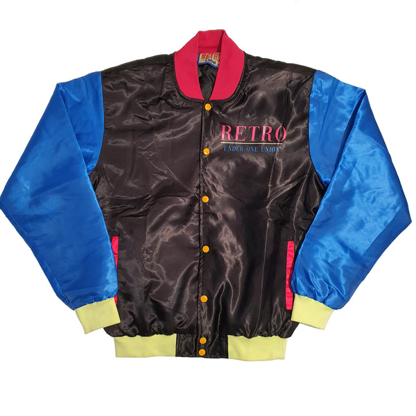 Men Retro Label U Jacket Black - Action Wear