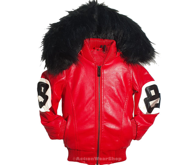 Kids 8 Ball Jacket KPU8BH Red - Action Wear