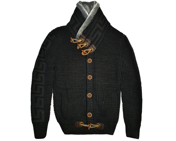 Wool Sweater For Men - Black bp6405 - Action Wear