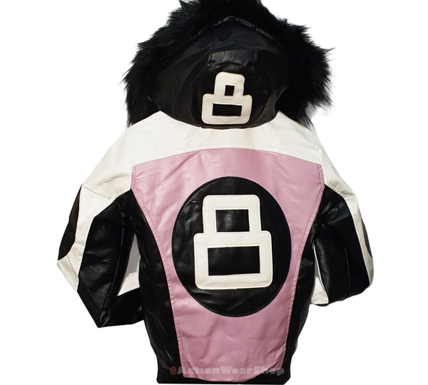 Women 8 Ball Leather Jacket - LPU8BH Blush Pink - Action Wear