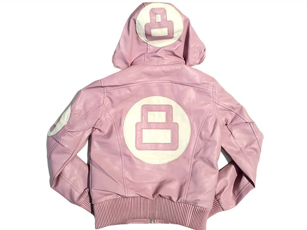 Women 8 Ball Leather Jacket - MPU8BH Pink - Action Wear