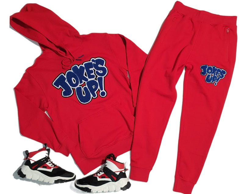 Jokes Up SweatSuit For Men - Red - Action Wear