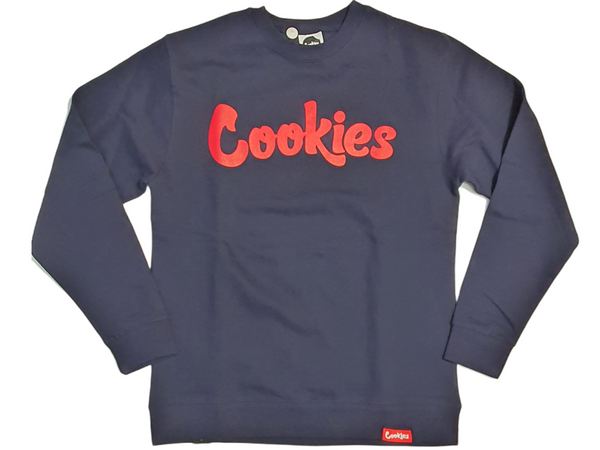 Men Cookies Crewneck 1548C4602 Navy - Action Wear