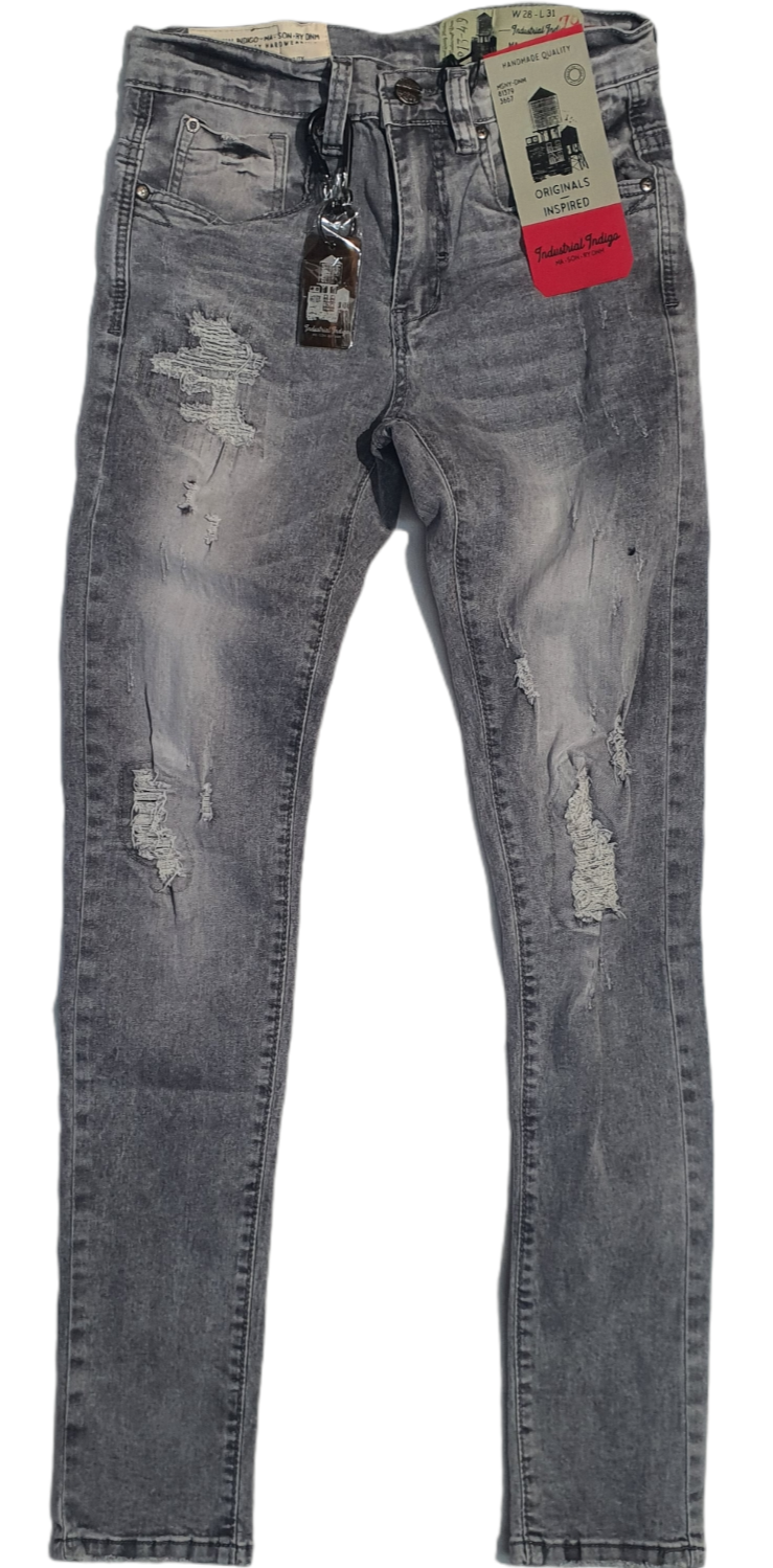 Industrial Indigo Jeans INT-Wb-270 Grey - Action Wear