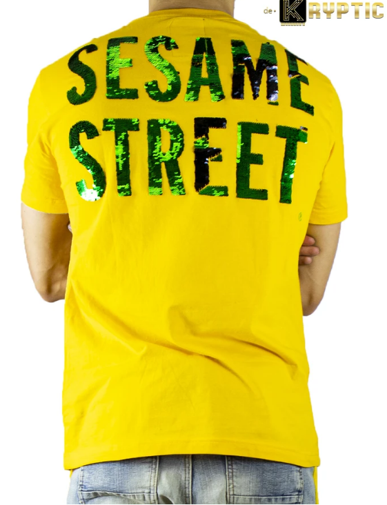 deKryptic x Sesame Street® - Oscar Sequined T-Shirt TS994