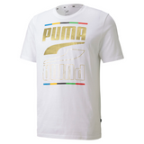 PUMA REBEL 5 CONTINENTS MEN'S TEE - White- 584607 02