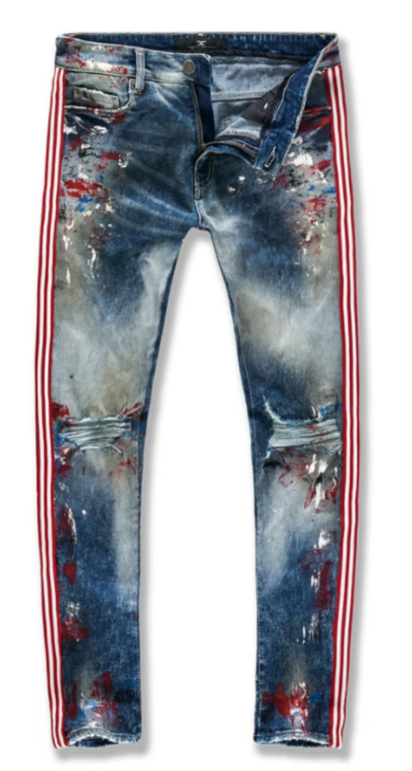 Jordan Craig Jeans Striped Denim (South Beach) For Men - JM3419 - Action Wear
