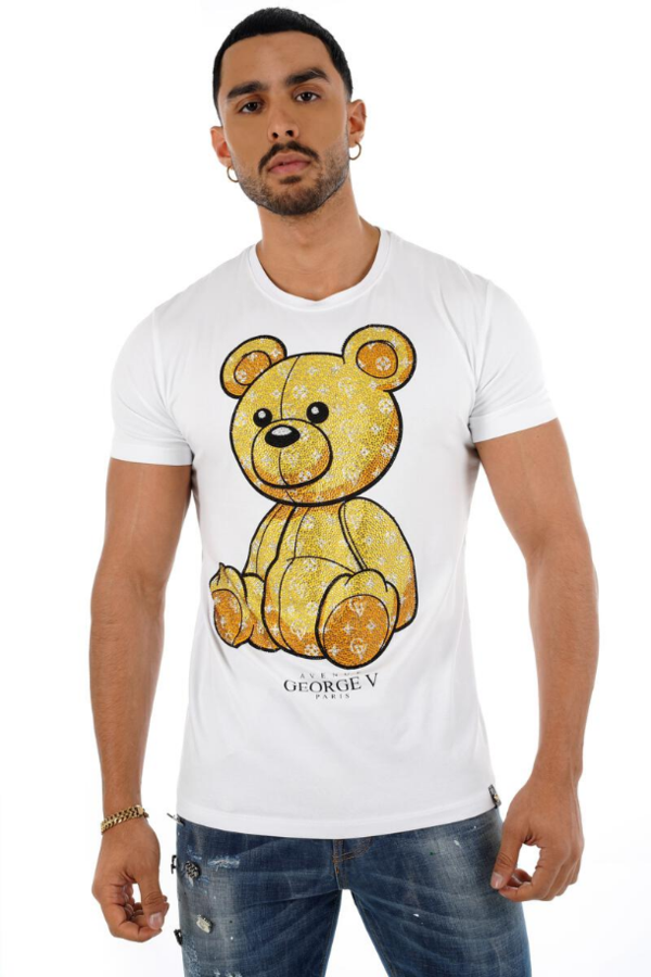 George Paris TShirt White and Gold GV 2205 - Action Wear