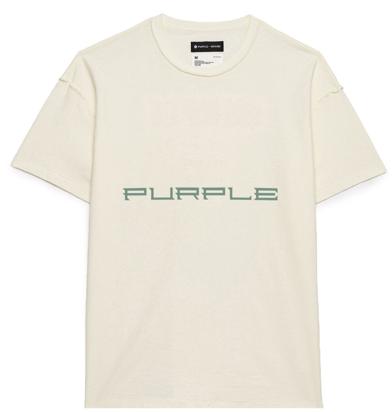 Purple Brand T-Shirt For Men - P101 PHW Cream - Action Wear