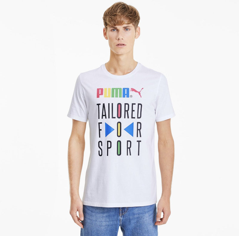 Puma Tailored for Sport Men's Graphic Tee White - Action Wear