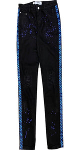 DNA Black And Blue Stirpe Jeans