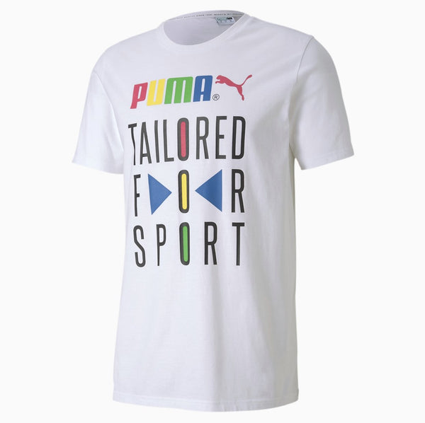 Puma Tailored for Sport Men's Graphic Tee White