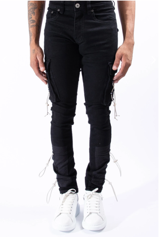 XOLO CARGO JEANS FOR MEN - X0LO-BLK