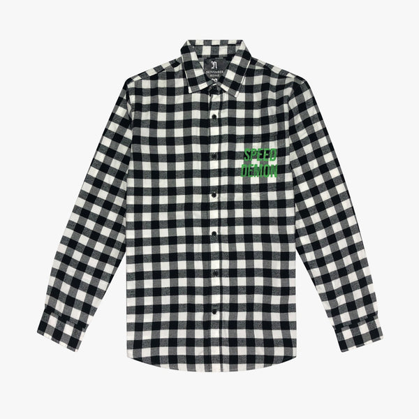 Speed Demon Flannel Button Down - Action Wear