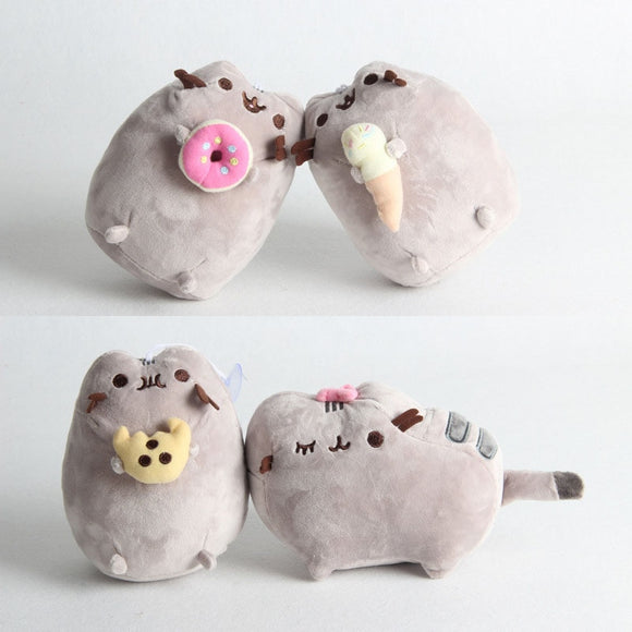 Cute Gray Cat Stuffed Plush Pillow - KittyCatPurrfect