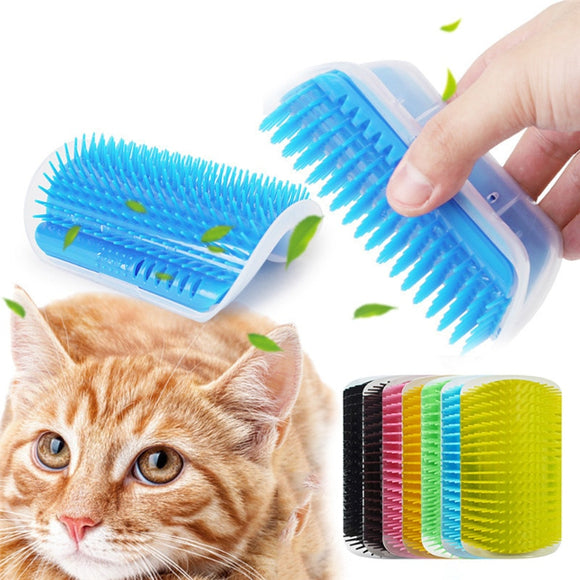 Cat Self Groomer Brush Wall Corner - KittyCatPurrfect