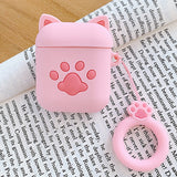 3D Cute Cartoon Cat Paw Silicone Earphone Case - KittyCatPurrfect