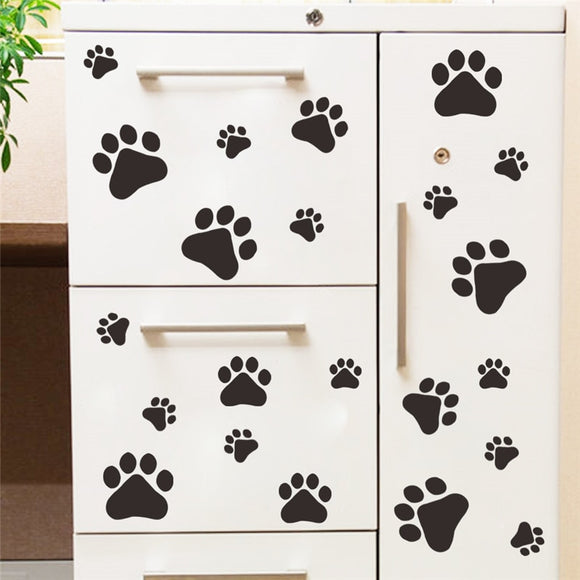 Paw Print Design Wall Sticker - KittyCatPurrfect