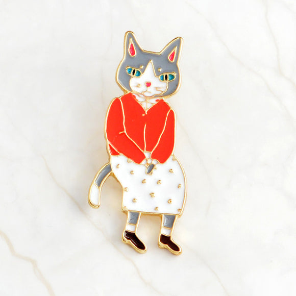 Mr. & Mrs. Cat Brooch - KittyCatPurrfect