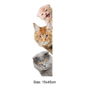 Three Cats 3D Wall Sticker - KittyCatPurrfect