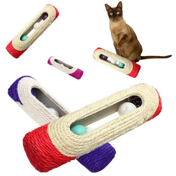 Scratcher Rolling Tunnel with Balls - KittyCatPurrfect