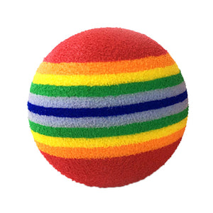 10Pcs Rattling Chewable Rainbow Ball - KittyCatPurrfect