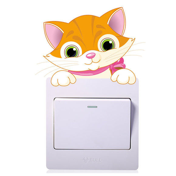Cute Cat Light Switch Sticker - KittyCatPurrfect