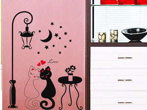♥ Kiity Couple DIY Wall Sticker - KittyCatPurrfect